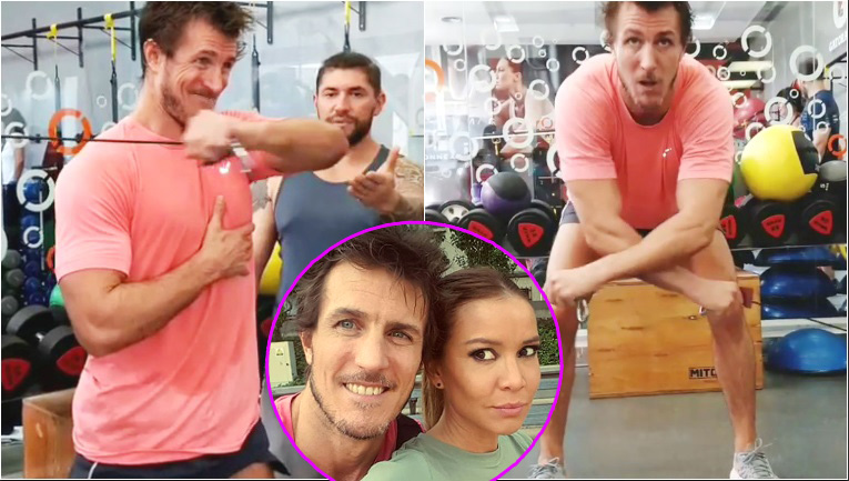 El video del novio de Dallys Ferreira ejercitándose