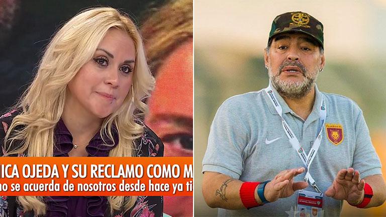 """Verónica Ojeda contó cómo dibujó a su familia Dieguito: """"A mí me hizo grande y a Diego chiquito y tachado"""""""