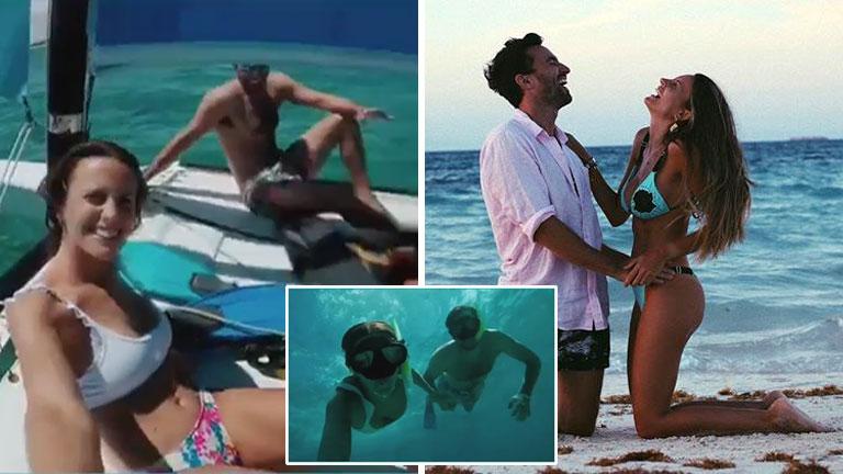 El video de las vacaciones de Melina Lezcano con su novio en Cuba