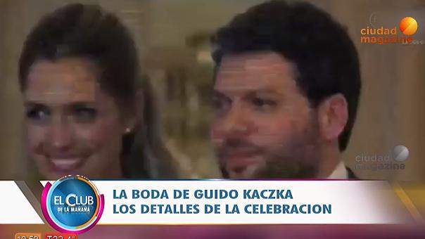 Los detalles del casamiento de Guido Kazcka