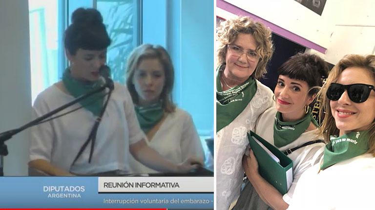 Griselda Siciliani, Carla Peterson y Verónica Llinás hablaron a favor de la despenalización del aborto en Diputados