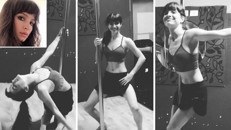 El divertido baile del caño de Brenda Asnicar