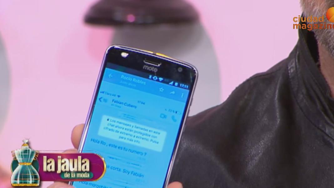 Mirá los mensajes que Fabián Cubero le envío a Rocío Robles