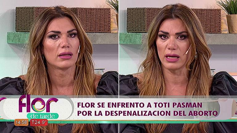 Flor de la Ve se quebró y dijo: