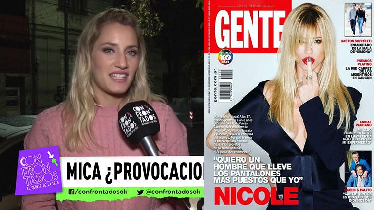 """Resultado de imagen para Mica Viciconte, tras la picante tapa de Neumann: """"A Nicole no le va a quedar otra que aceptar esta relación"""""""