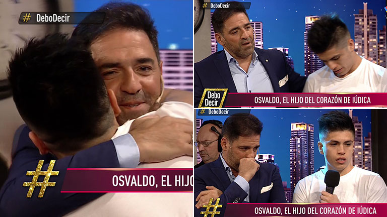 Emocionado, Mariano Iudica presentó a Osvaldo, su hijo adoptivo