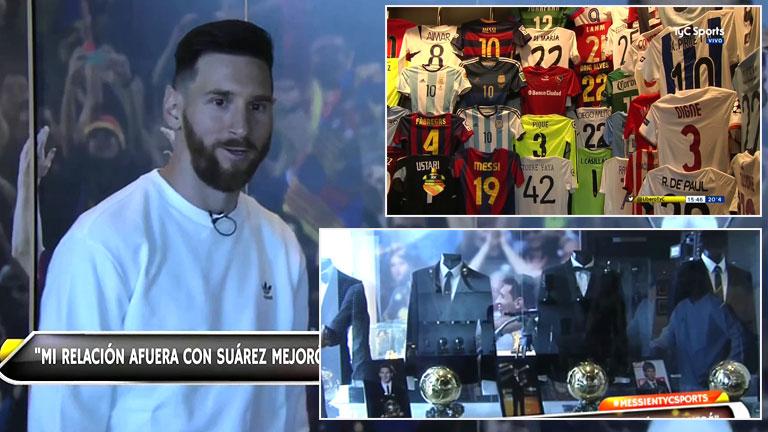 Lionel Messi mostró su increíble museo personal