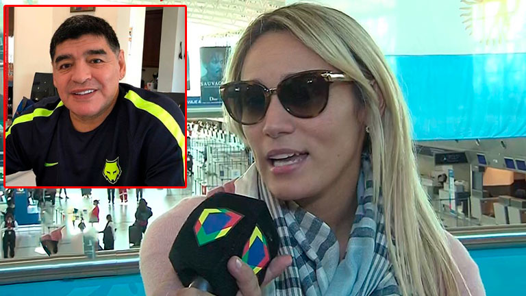 Resultado de imagen para El motivo por el que Rocío Oliva no acompañó a Maradona en los primeros partidos de Argentina en el Mundia
