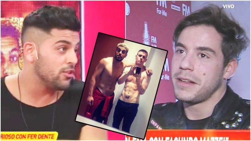 Facu Mazzei disparó contra Fernando Dente por salir con su exnovio (Fotos: Captura y Web)
