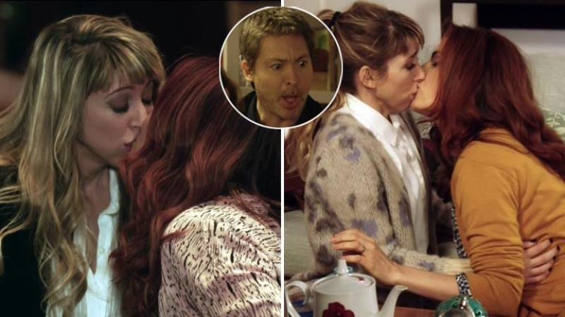 El beso hot entre Julieta Díaz y Florencia Bertotti en Silencios de familia