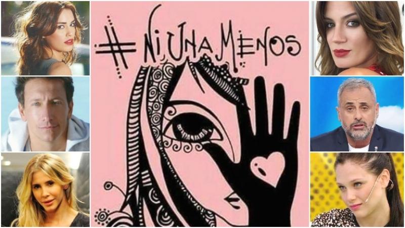 Los famosos se plegaron a la marcha por Ni una menos (Fotos: Web)