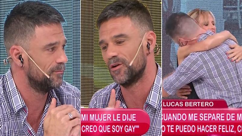 La emoción de Lucas Bertero en El Diario de Mariana