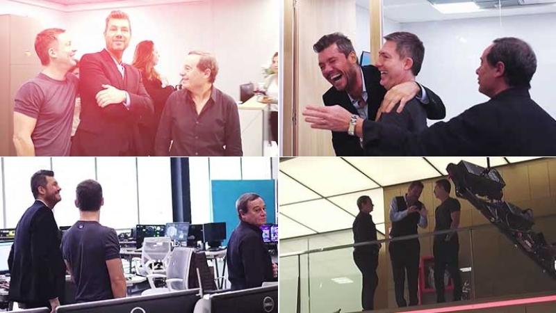 Marcelo Tinelli recorrió el Centro de Contenidos Multiplataforma de Artear.