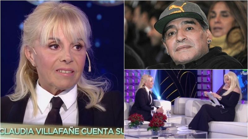Claudia Villafañe, en el living de Susana: