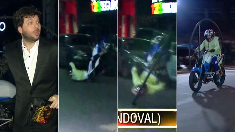 Accidente de moto en vivo en el programa de Guido Kaczka