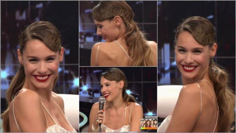 El peinado de Pampita con invisibles en ShowMatch que dio mucho que hablar. Foto: Captura
