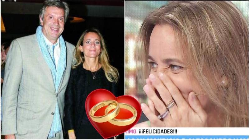 Mariana Gallego se enteró que se casaba con Mauricio D'Alessandro en vivo (Fotos: Web y Captura)
