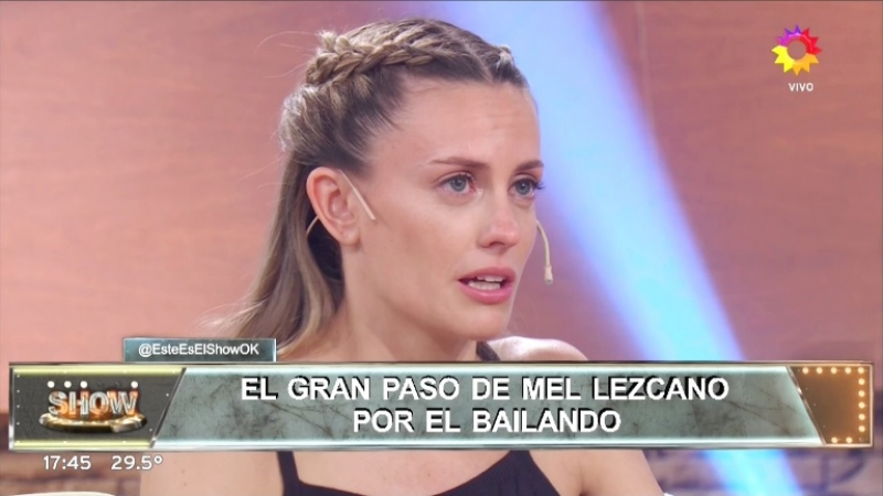 Melina Lezcano, quebrada en Este es el Show tras ser eliminada en Bailando 2017