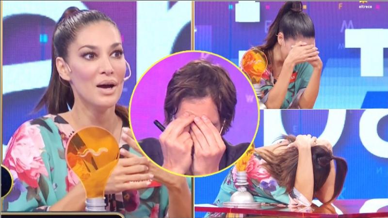 La respuesta de Silvina Escudero en Pasapalabra que logró sonrojar a Iván de Pineda (Fotos: Capturas)