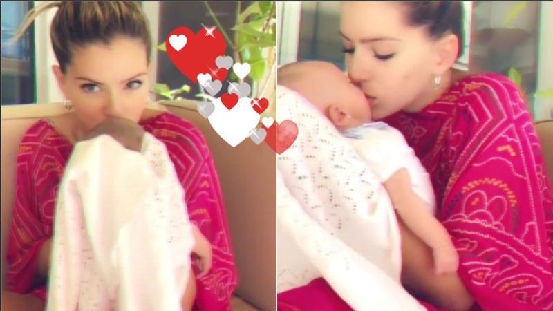 El video de la China Suárez llenando de besos a su hija Magnolia (Fotos: Capturas de video de Instagram)