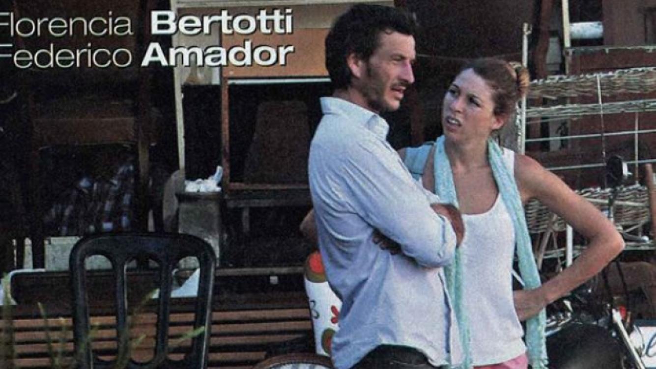 Florencia Bertotti y Federico Amador, juntos. (Foto: revista Paparazzi)