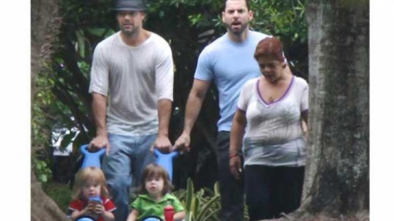 Ricky Martin junto a sus hijos y ¿su futuro esposo? (Foto: Web).