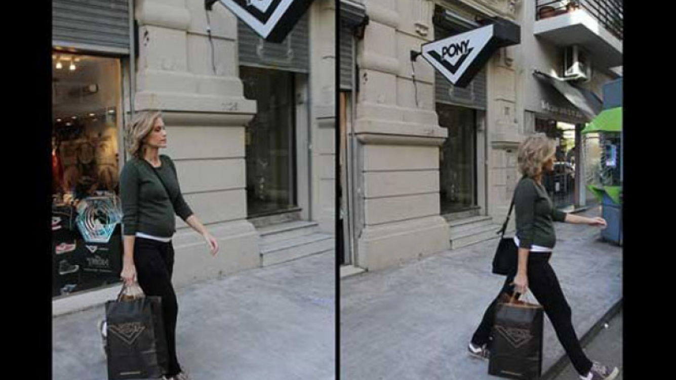 Brenda Gandini paseó su pancita de cinco meses. (Foto: Diego Otero)