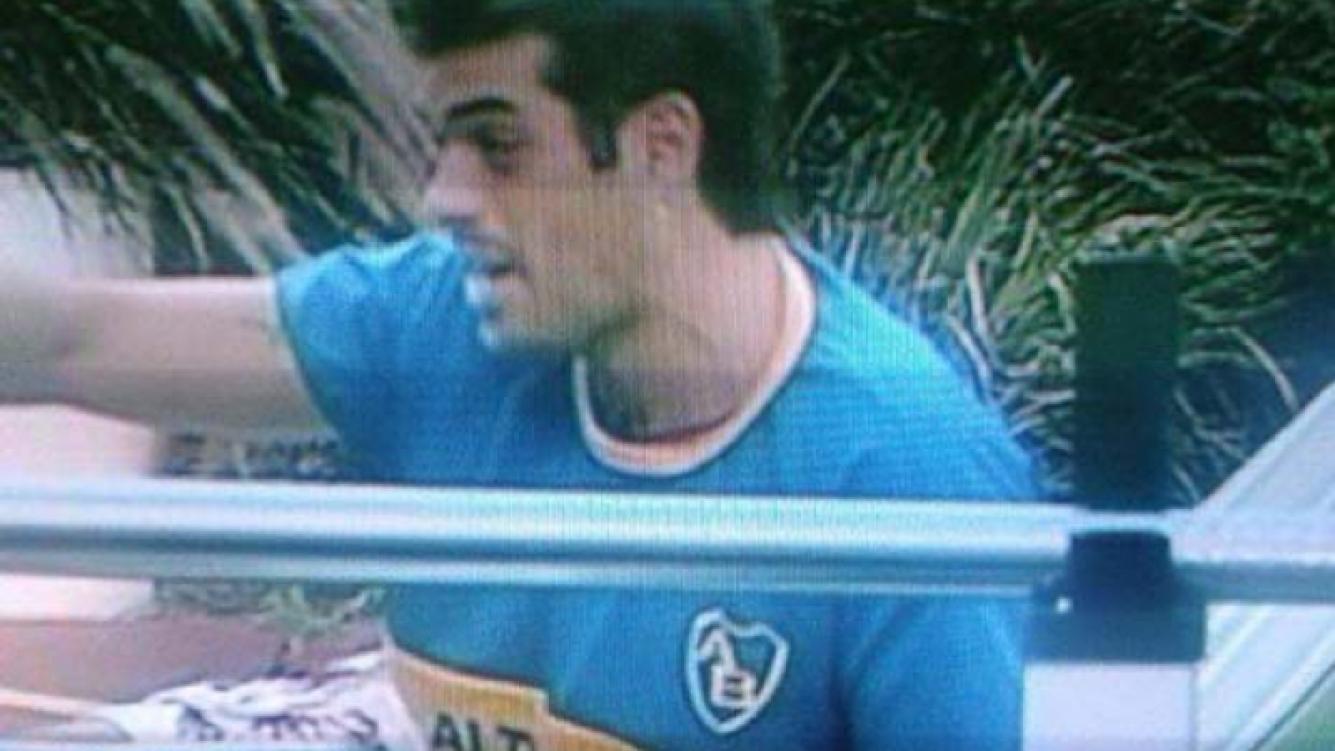 Cristian U. con la camiseta de Boca.