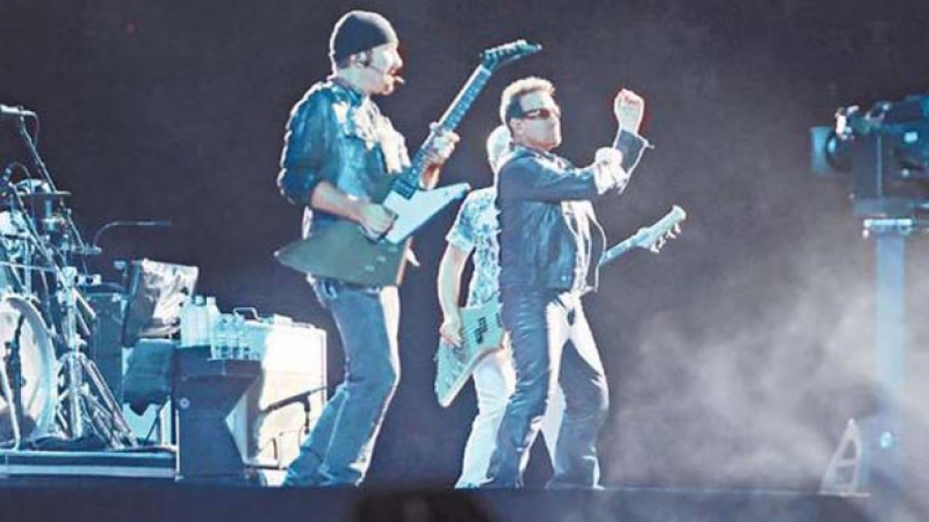 U2 en La Plata. (Foto: Clarín)