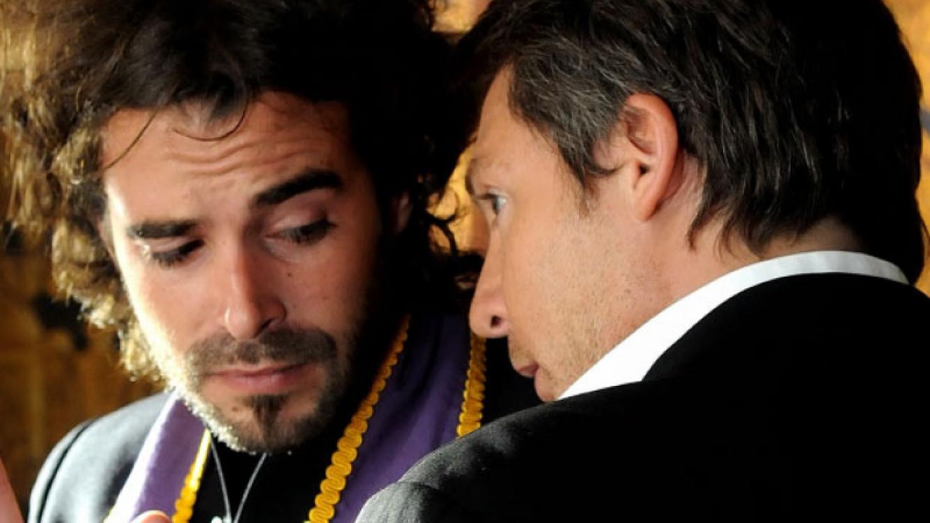 Adrián Suar y Nicolás Cabré en Los Unicos. (Foto: El Trece).