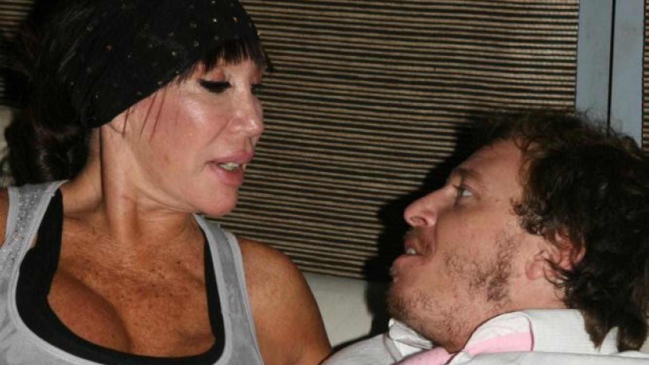 Moria Casán, mimosa con su novio en la fiesta de Ciudad.com