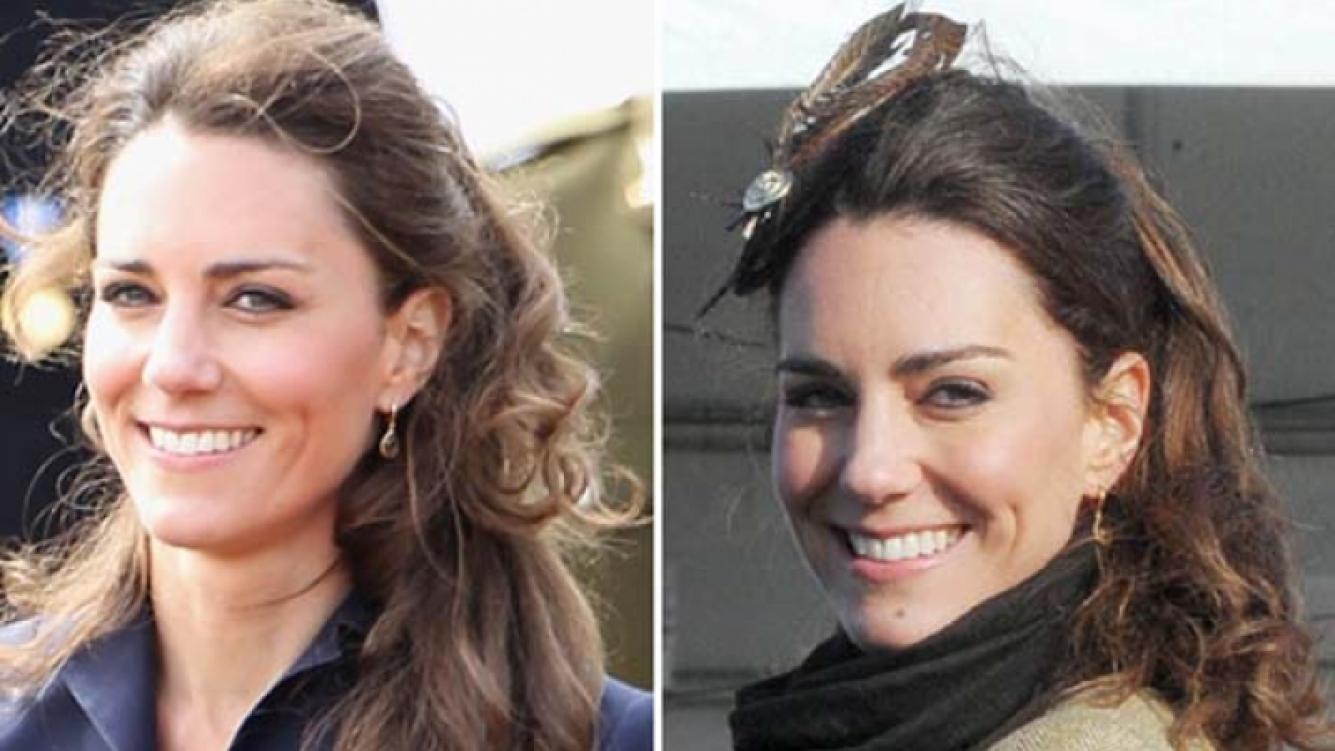 Catherine Middleton con el cabello recogido. (Foto Web)