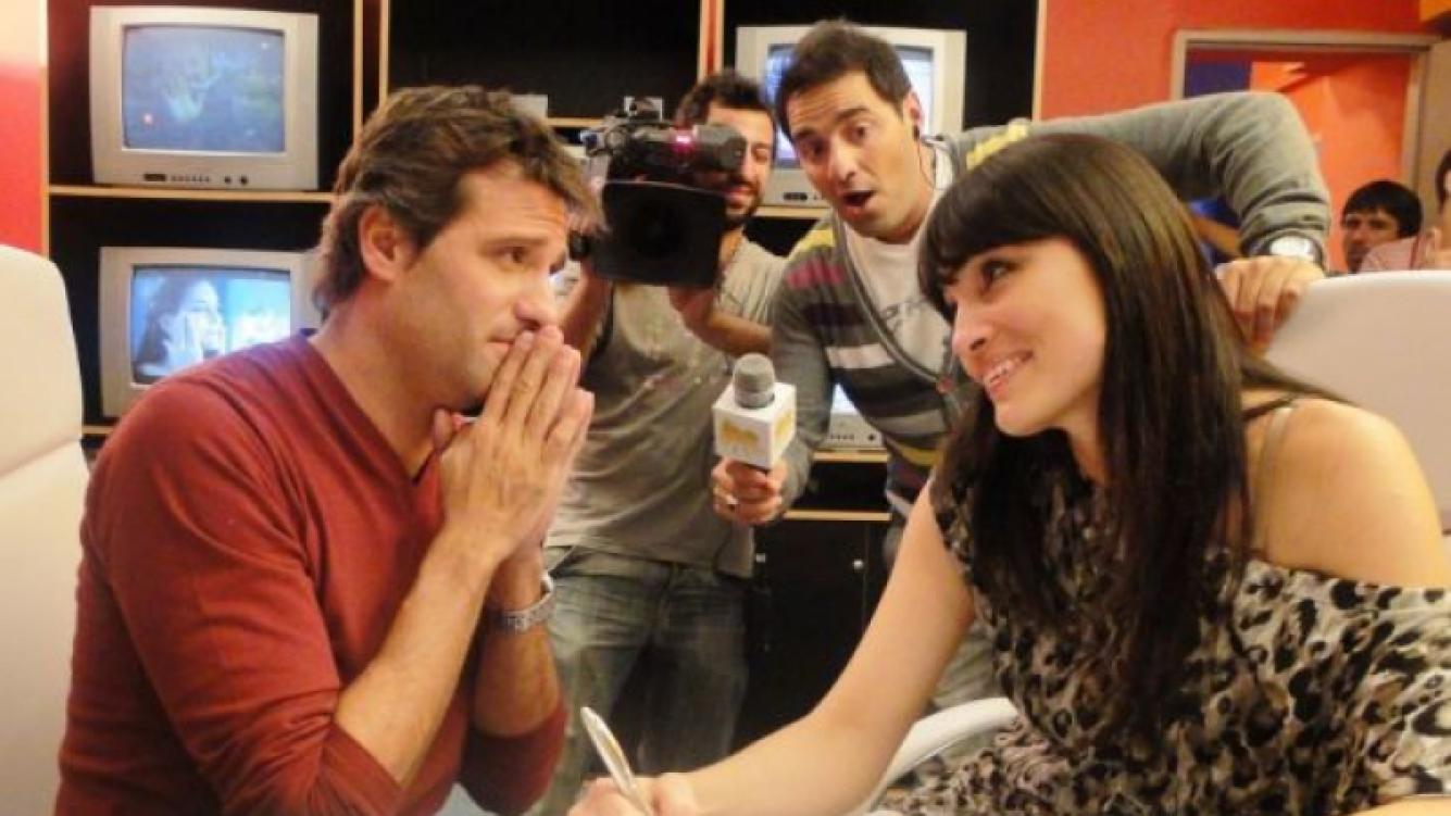 Josema Listorti le ruega a Mónica González que no firme para Bailando. (Foto: Ideas del Sur)