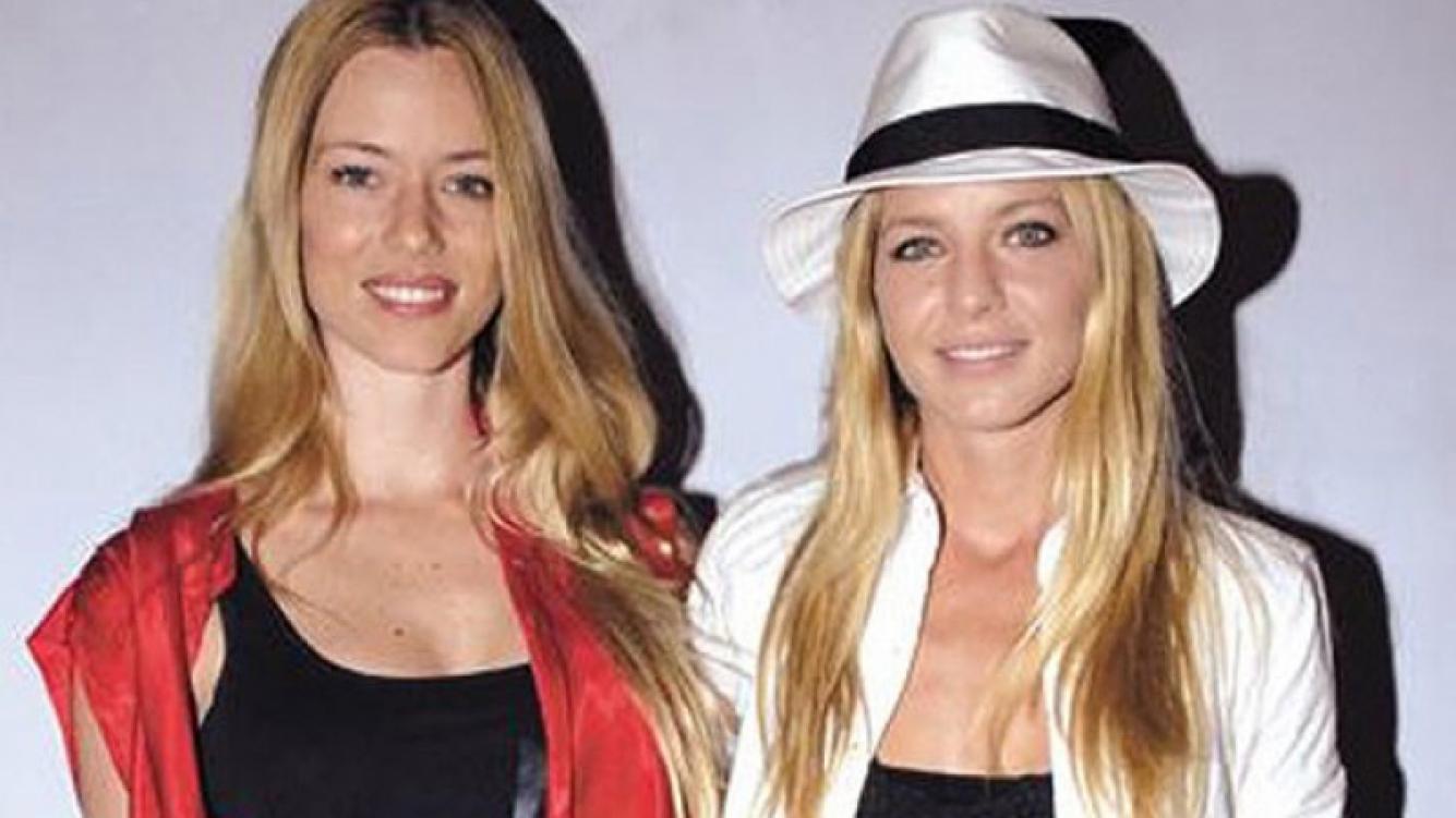 Nicole Neumann y su hermana Geraldine, juntas. Otras épocas. (Foto: Web)