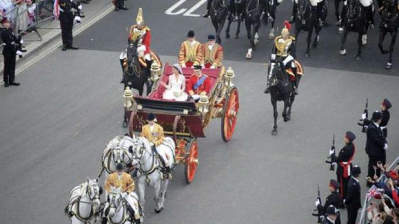 William y Kate se casaron en la abadía de Westminster.(AFP)
