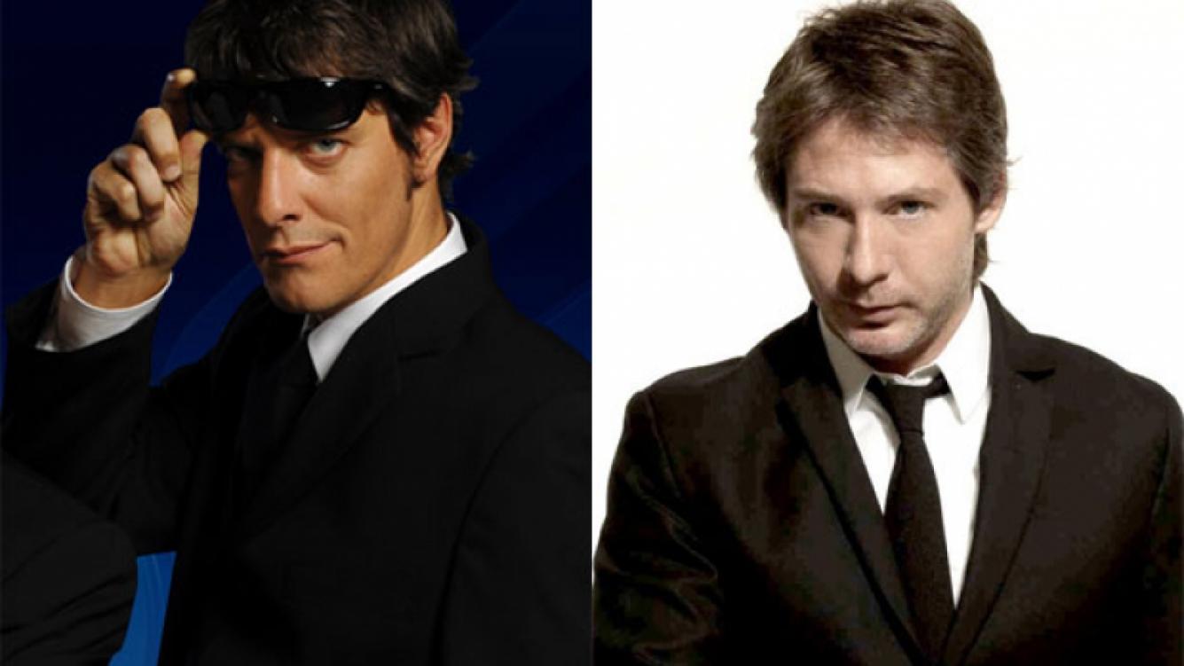 Mario Pergolini y Adrián Suar, juntos en Los Unicos. (Fotos: Web)