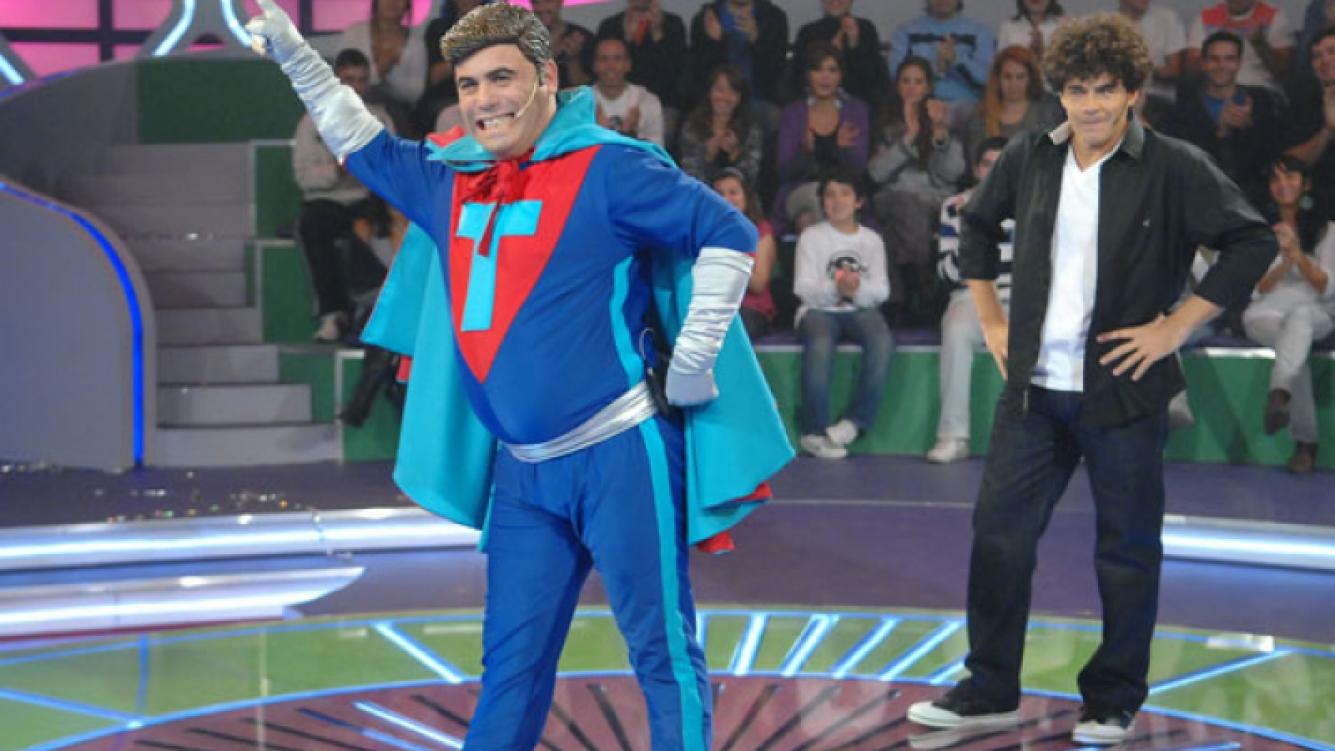 El Bicho Gómez en su debut en Justo a Tiempo (Foto: Telefe).