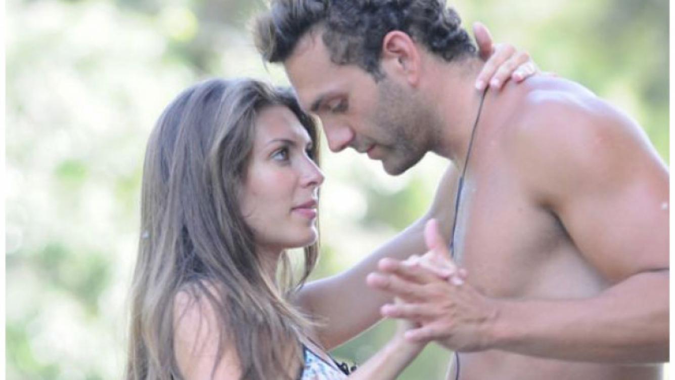 Hernán Cabanas y Eugenia Lemos, en la isla. (Foto: Ideas del Sur).