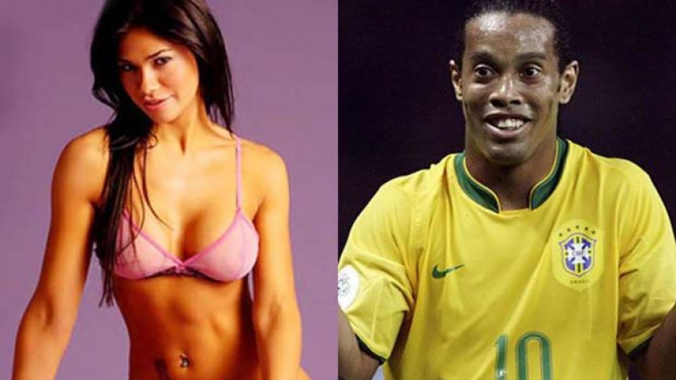 Mariana de Melo y Ronaldinho. (Foto: Web)