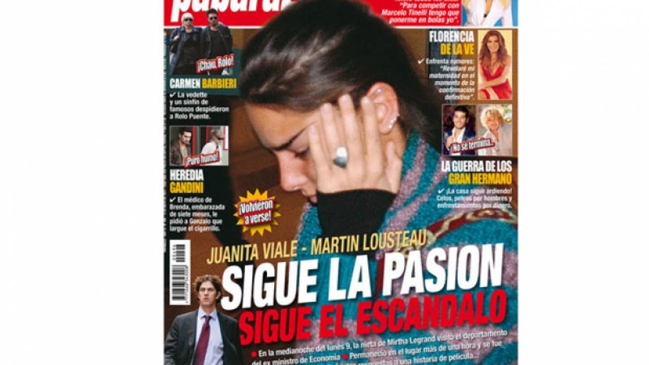 Juana Viale y Martín Lousteau, protagonistas de otra tapa explosiva de la revista Paparazzi.