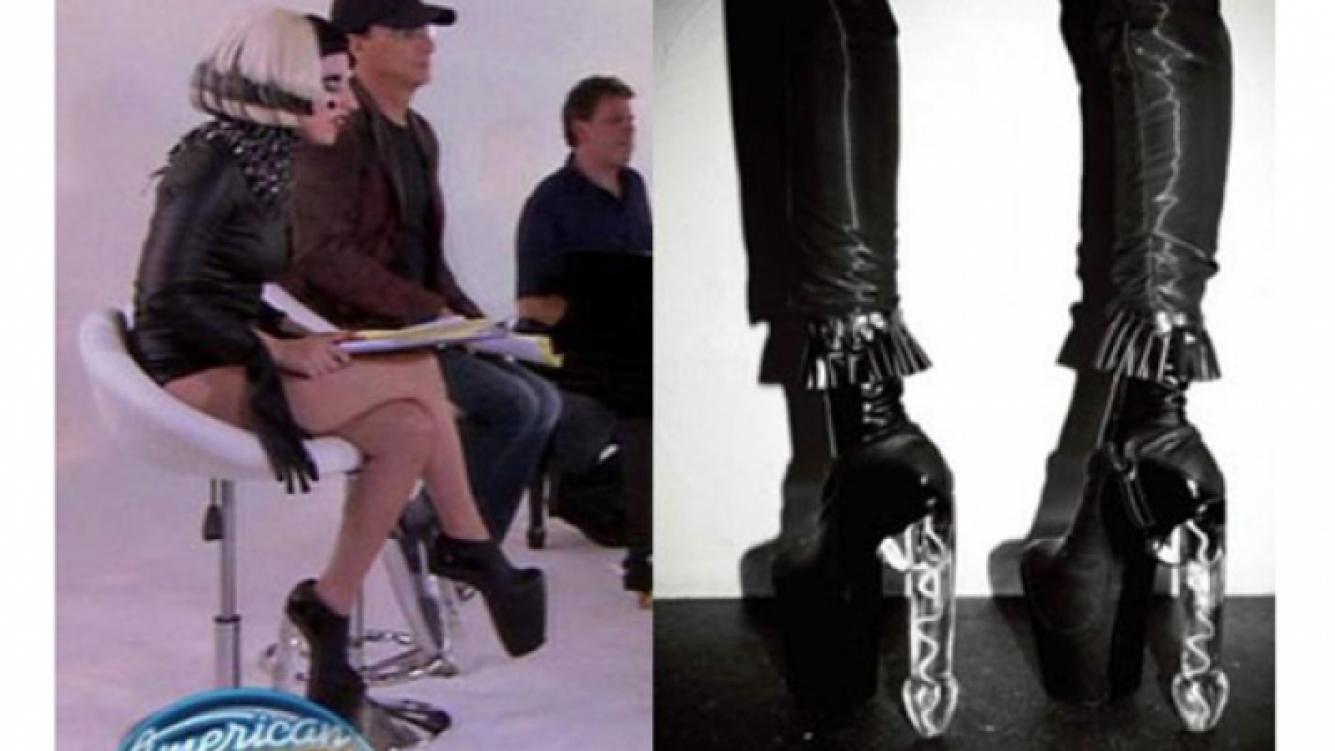 Los zapatos de Lady Gaga fueron censurados por American Idol (Foto: Web)