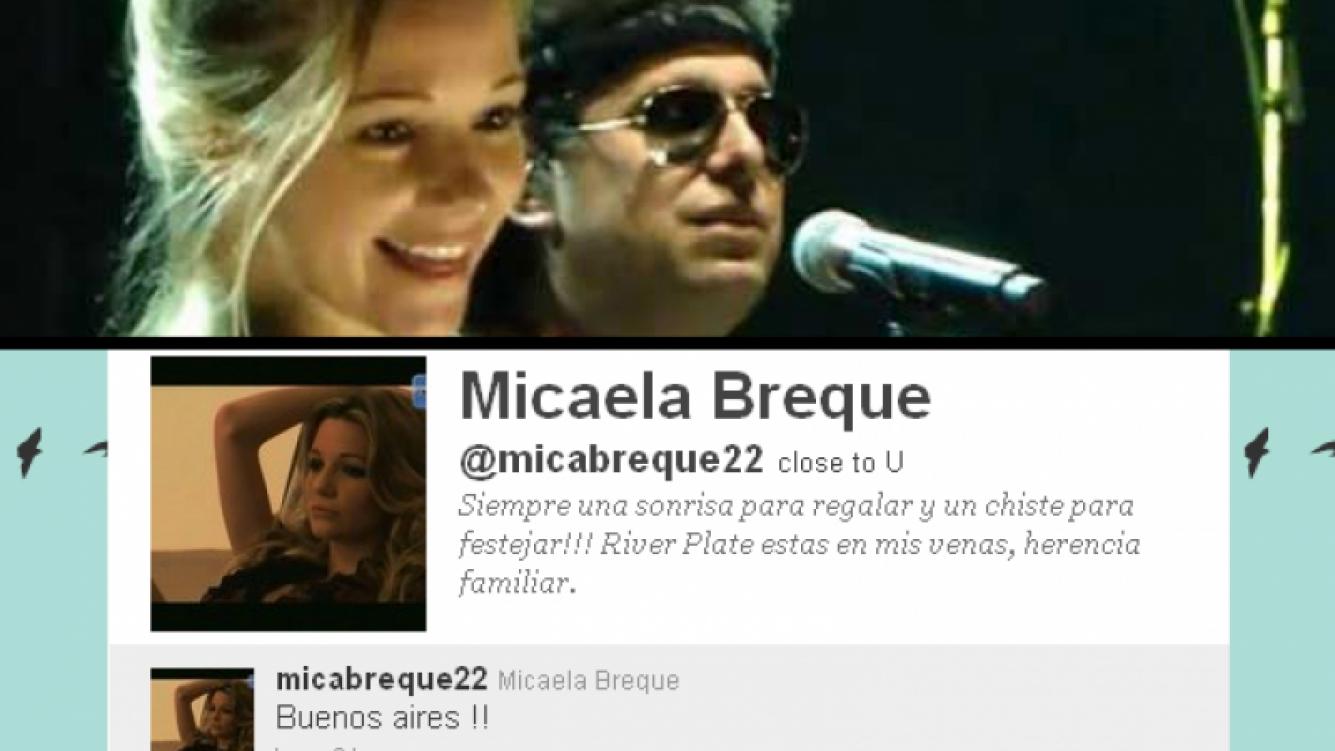 Pese a que se ocultó en Ezeiza, al rato Micaela Breque tuiteó su vuelta a Buenos Aires.