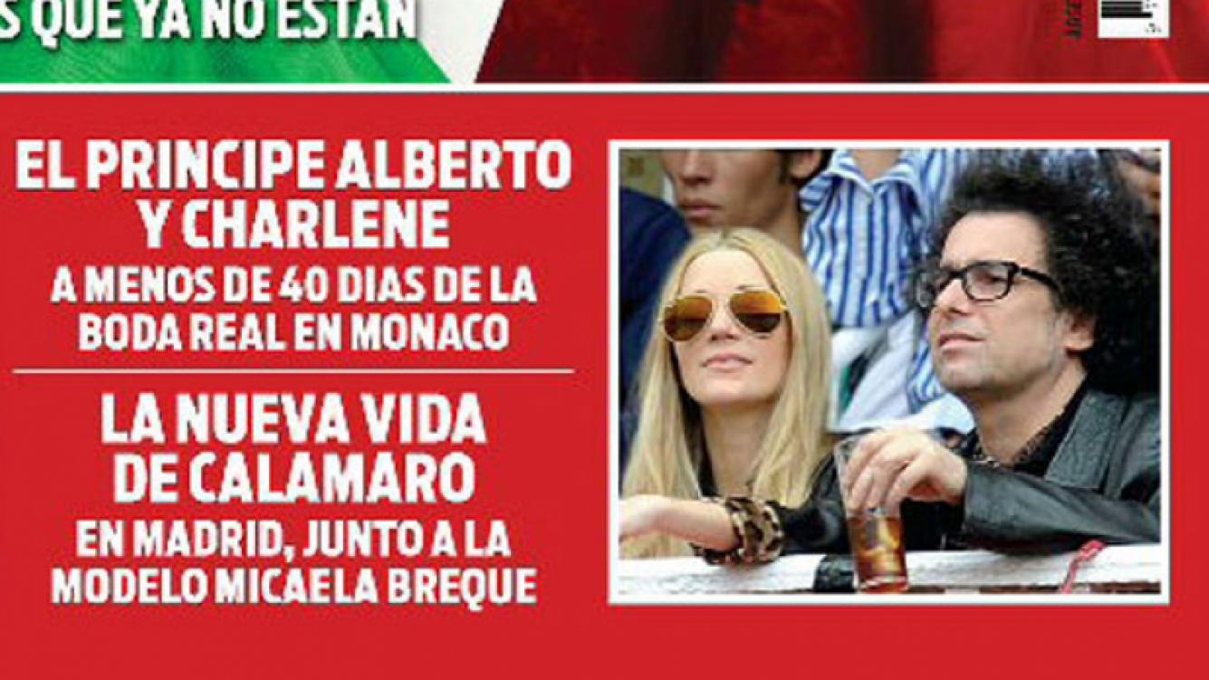 La tapa de la revista Hola!, con Andrés Calamaro y Micaela Breque juntos en Madrid.