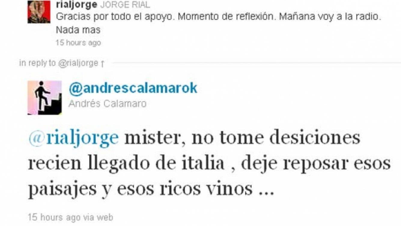 El consejo de Calamaro a Jorge Rial. (Foto: @andrescalamarok)
