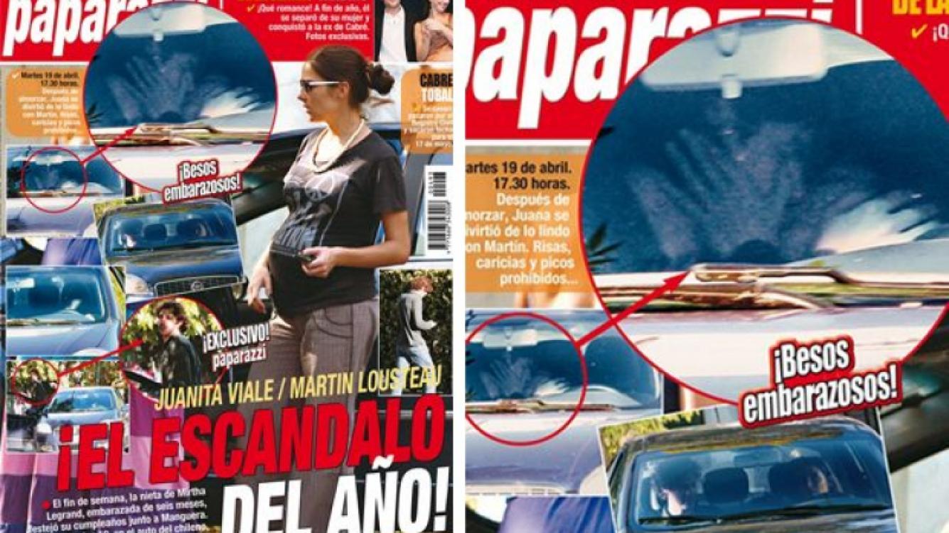 La tapa de Paparazzi con las escandalosas fotos de Juanita y Lousteau.