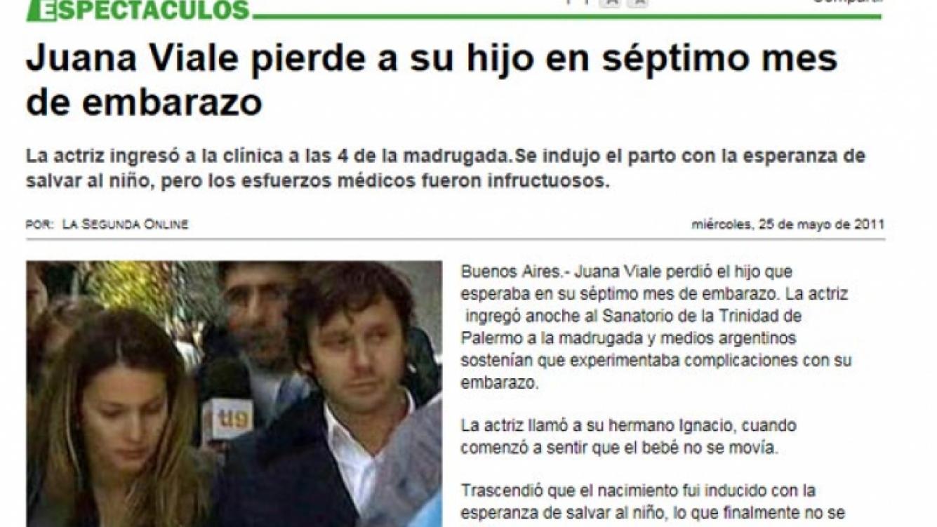 El rebote de la tragedia de Juana Viale en la prensa chilena.