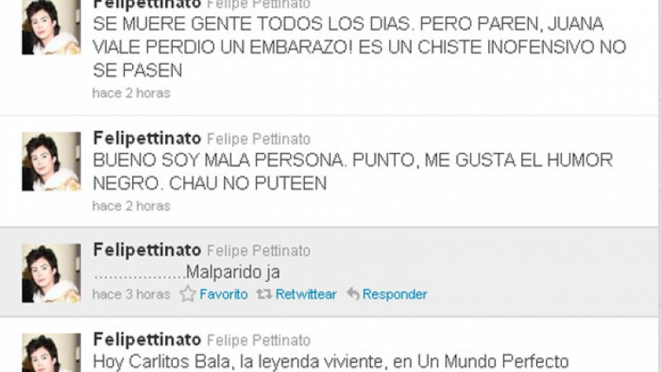 El polémico tweet de Felipe (Foto: Twitter).