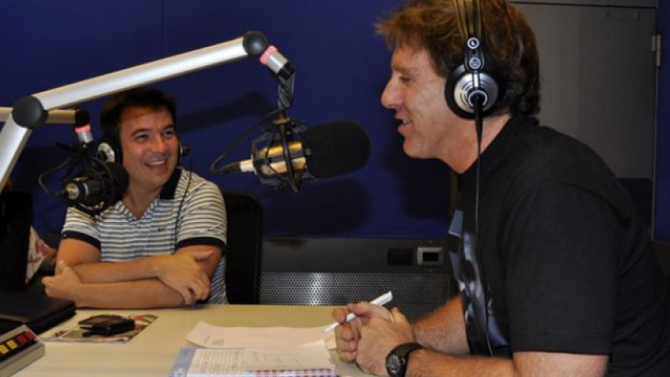 Gastón Recondo y Alejandro Fantino en Radio 10. (Foto: Jennifer Rubio)