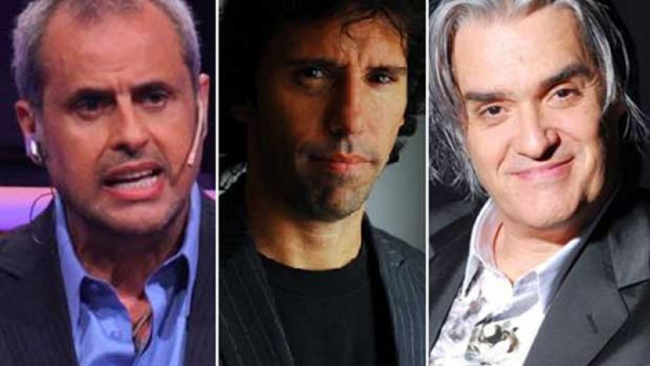 Gastón Portal, Jorge Rial y Roberto Pettinato, enfrentados en Twitter. (Foto: Web).