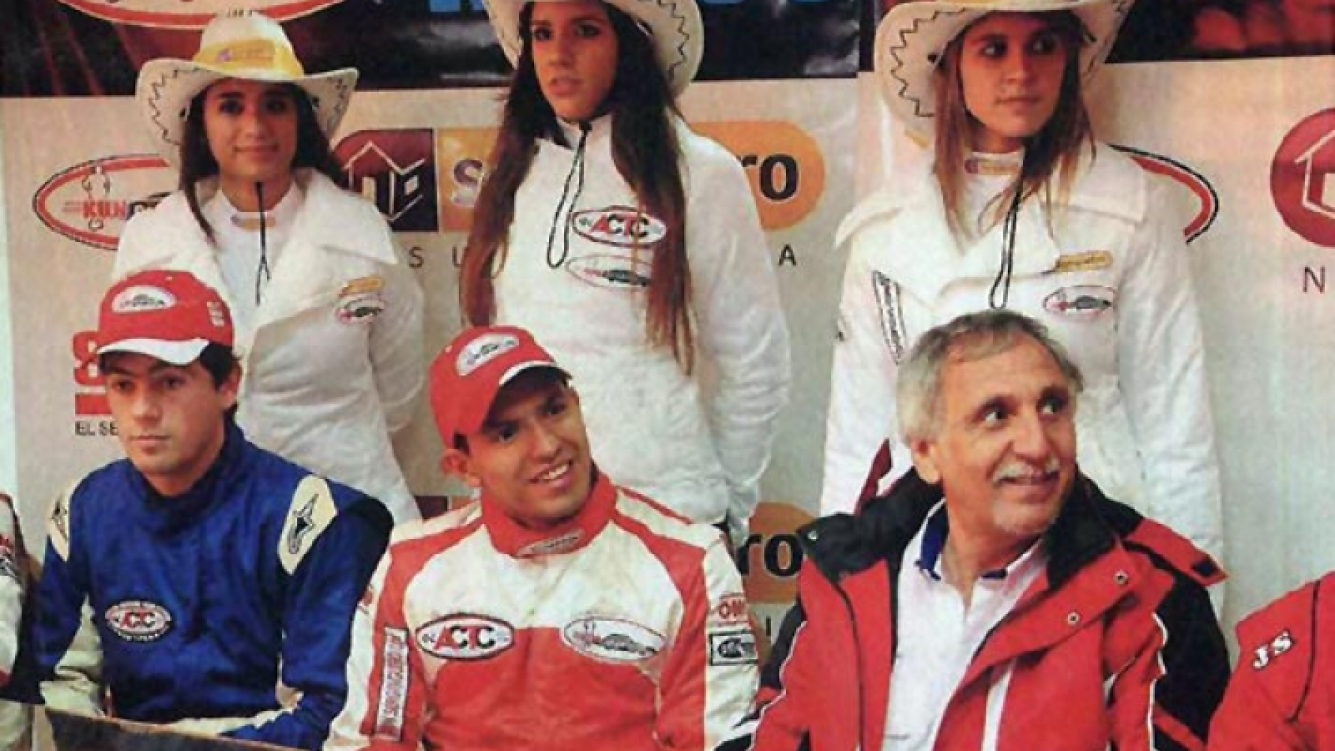 Sergio Agüero, corrió a bordo de un autó de Kun Competicion. (Foto: Gente)